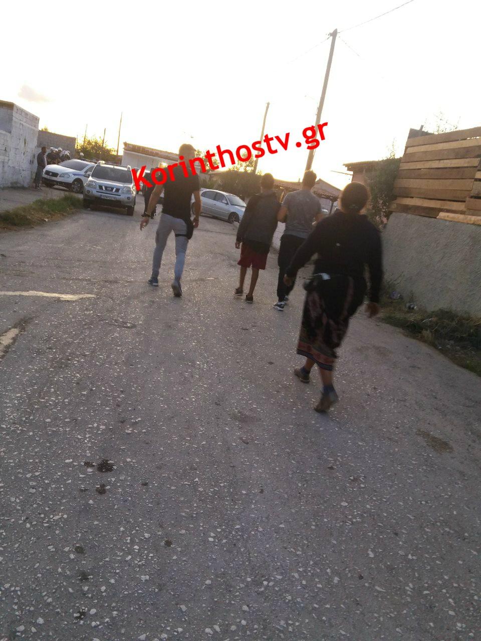 Έφοδος της Αστυνομίας στον καταυλισμό Ρομά στο Ζευγολατιό