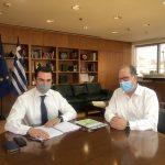 Συνάντηση του περιφερειάρχη Πελοποννήσου Π. Νίκα με τον υπουργό Περιβάλλοντος και Ενέργειας Κώστα Σκρέκα